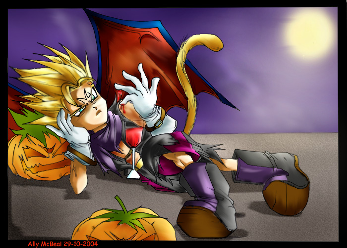 chibi majin vegeta in halloween by AllyMcBeal