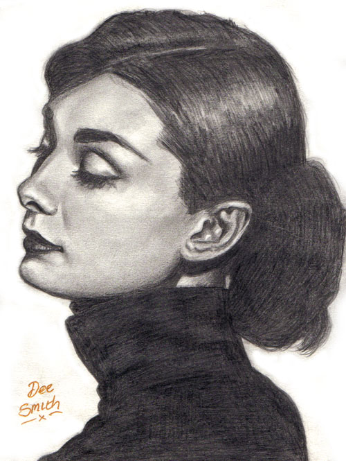Audrey Hepburn by deedee