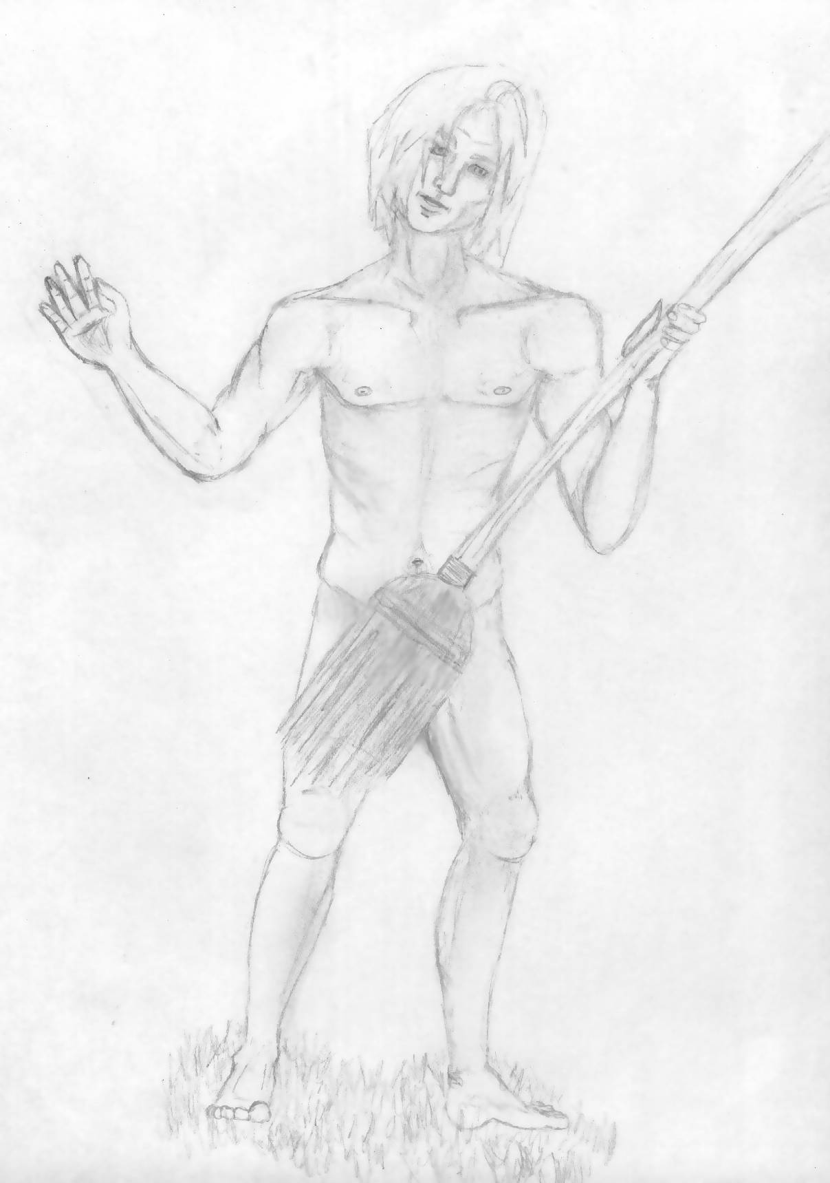 """Quidditch"" Nudist Draco by Falthee"