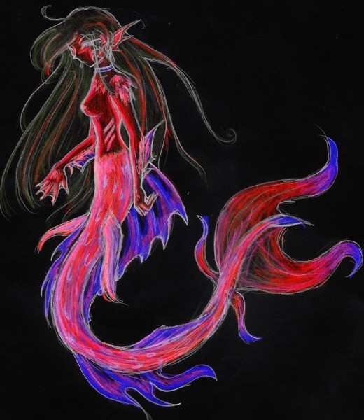 mermaid negative by Keesh