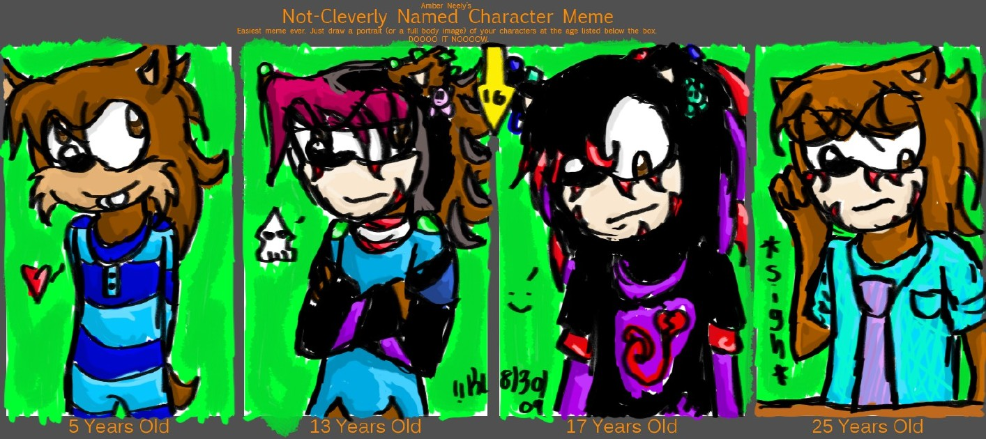 Character Meme--Shaun 'Emoshic' Shaminsho by Kirbyluva11