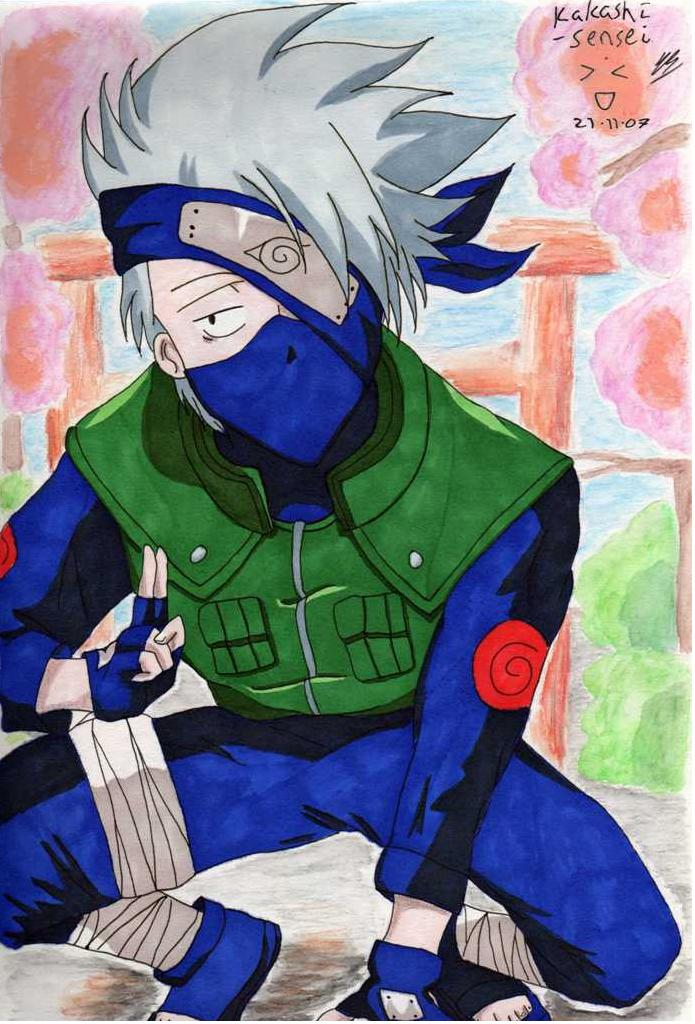 Kakashi-sensei by Little_Miss_Anime