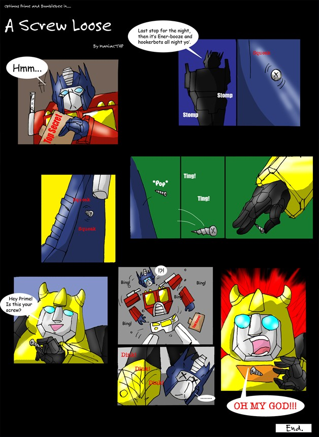 G1 Comic: 'A Screw Loose' by ManiacTHP