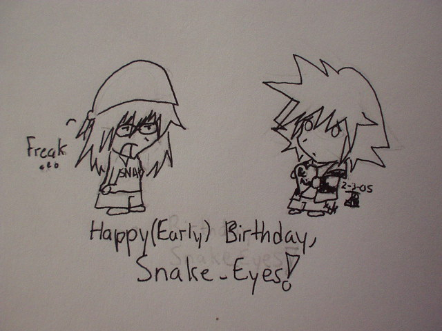 Happy Birthday, Snake Eyes! by sili