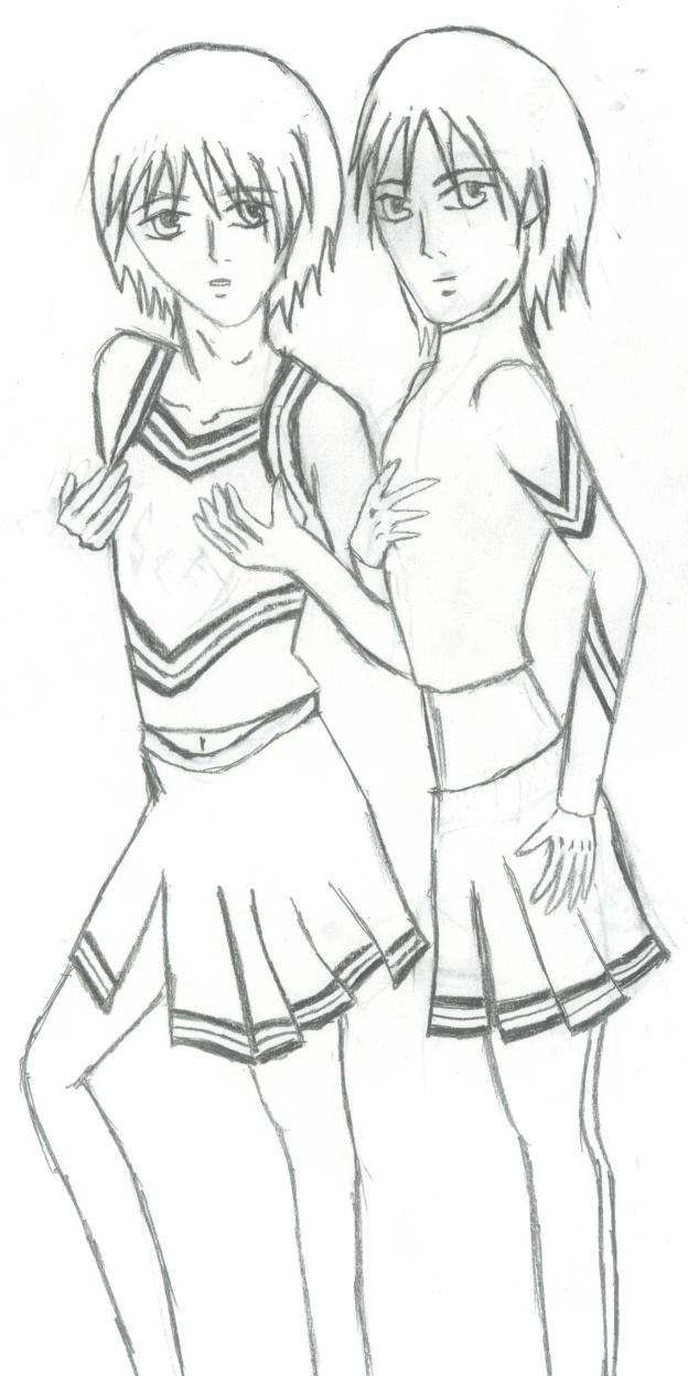 CrossDressing Cheerleading Twins by TariTroi