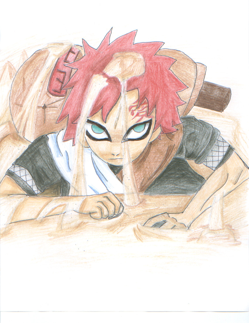 Gaara of the Sand by Waffle