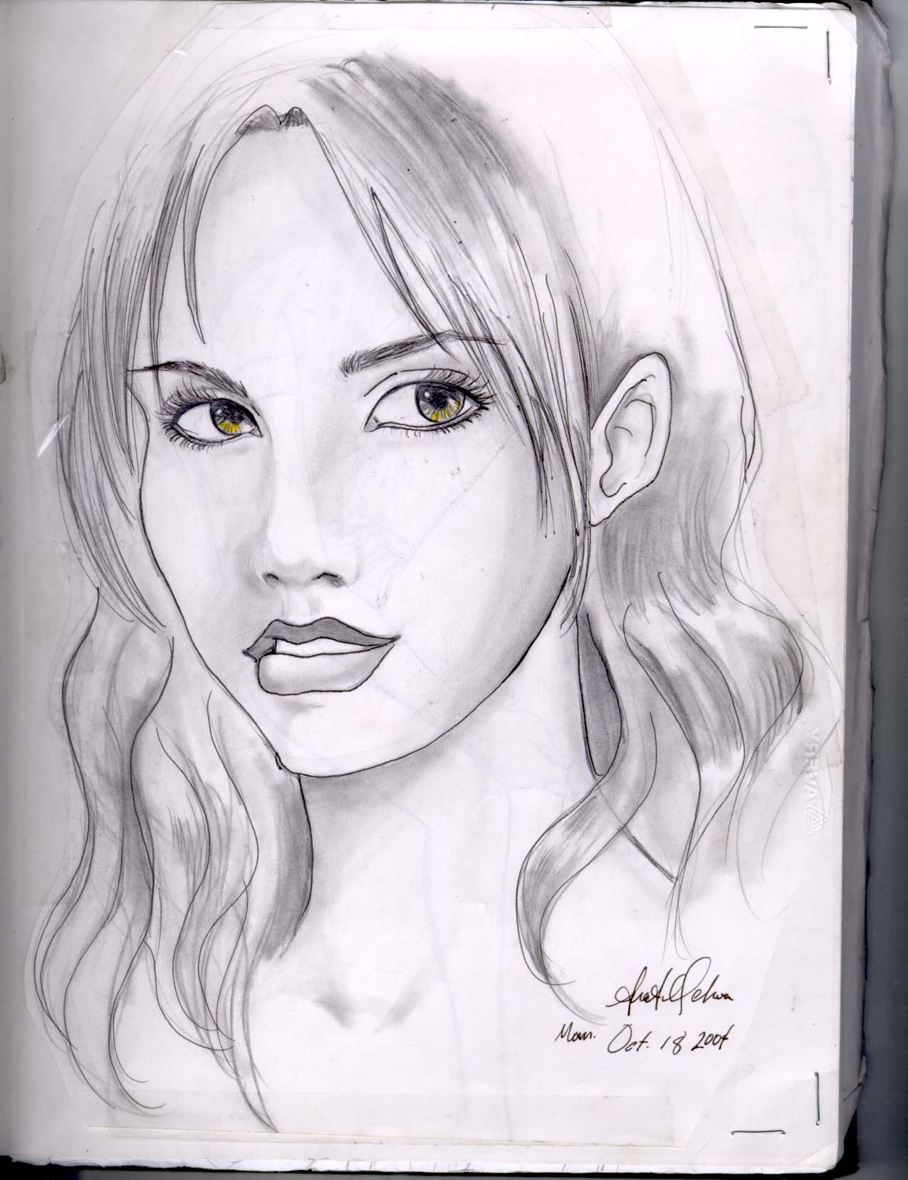 quick sketch of girl by 311chick