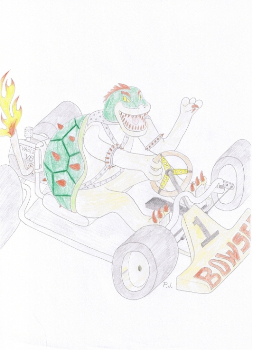 Bowser From Mario Kart by 357