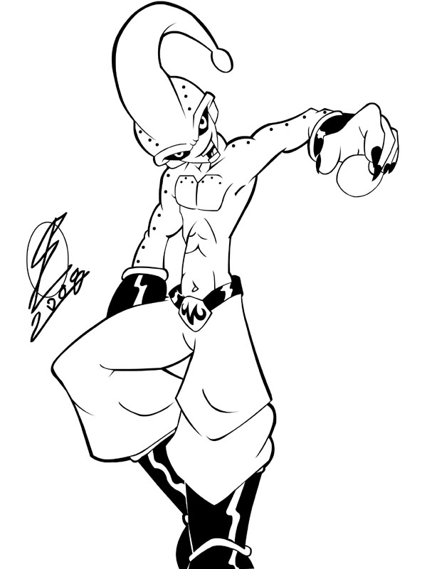 dragonball z buu coloring pages - photo#13