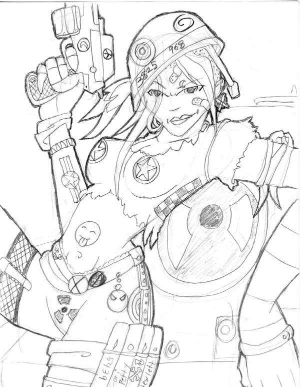 Tank girl sketch by 5439