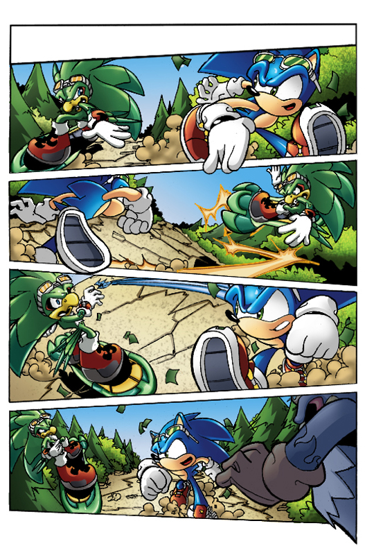 Riders-Sonic vs Jet colored by 5439