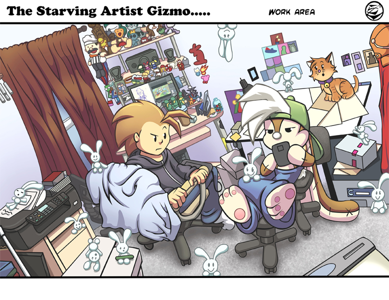 Starving artist Gizmo Work area by 5439