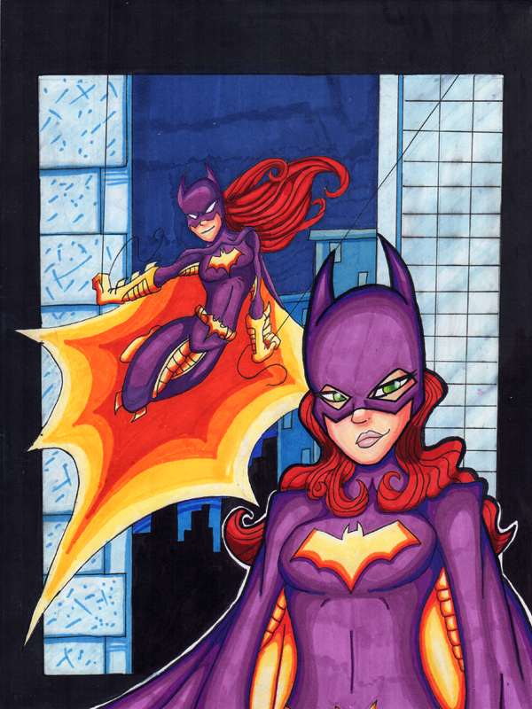 Batgirl copic by 5439