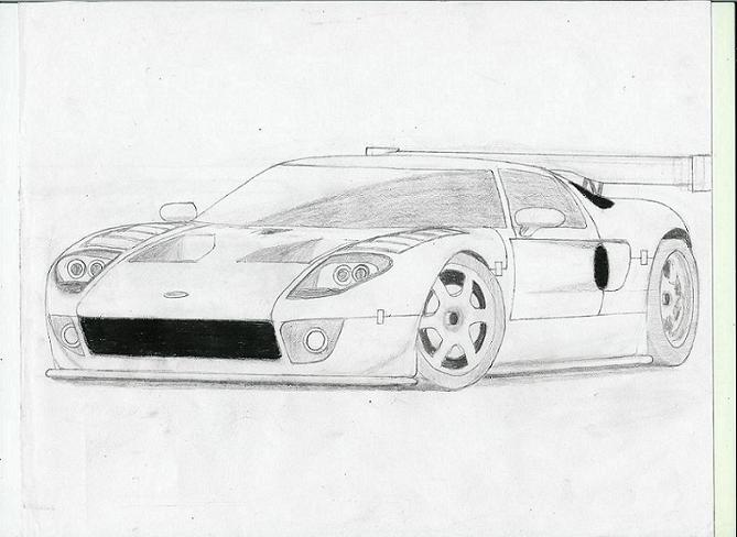 Ford GT-R Front View by ARTCAR