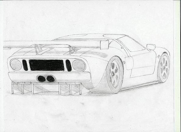 Ford GT-R Rear View by ARTCAR