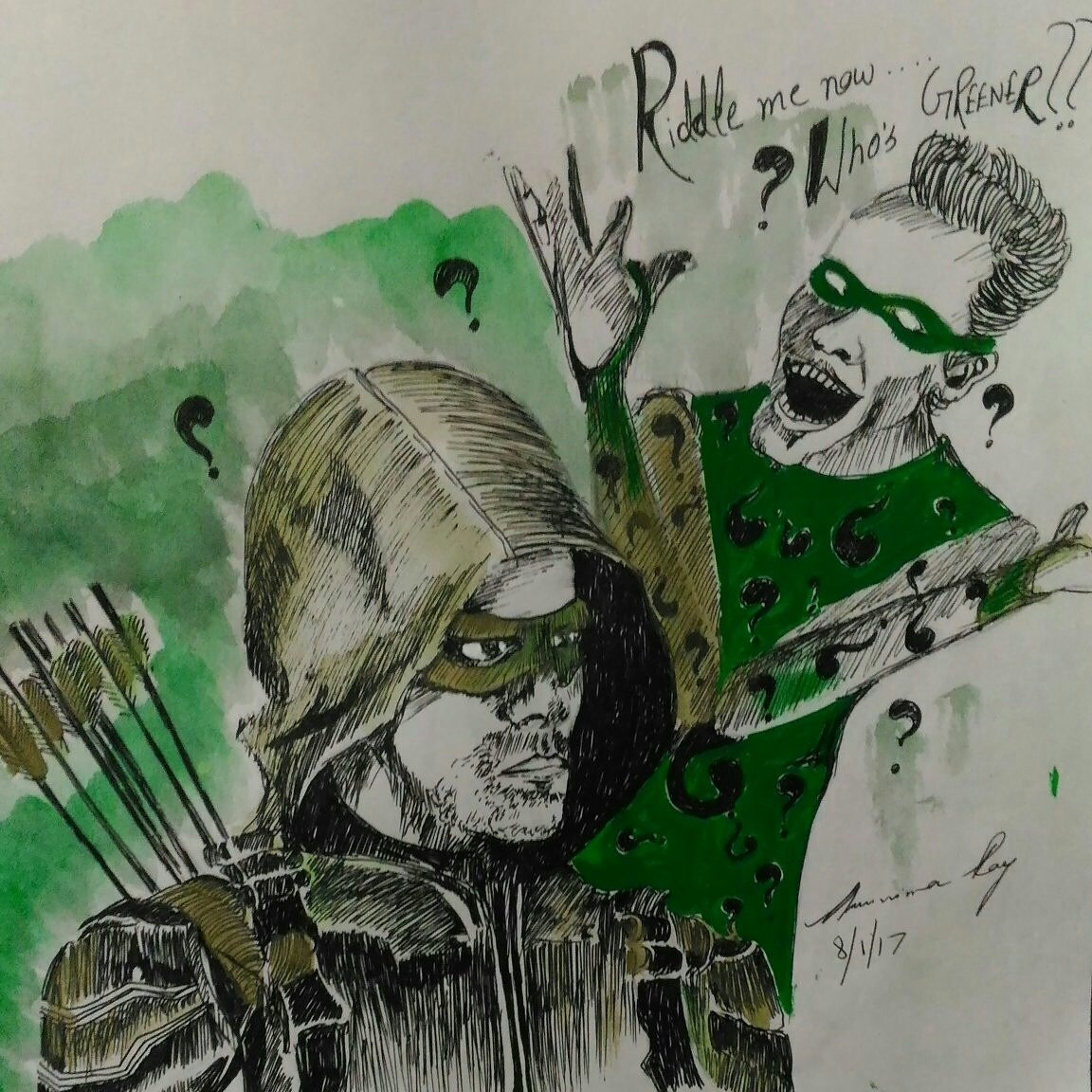 the green arrow and the riddler by ARUNIMA