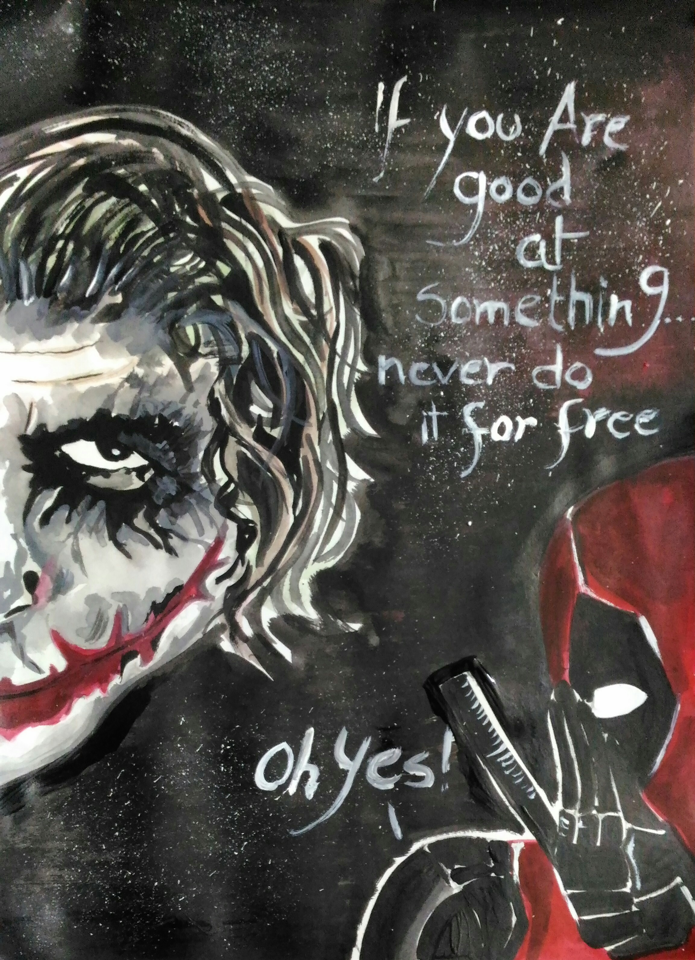 WORK ETHIC :P ( THE JOKER AND DEADPOOL) by ARUNIMA