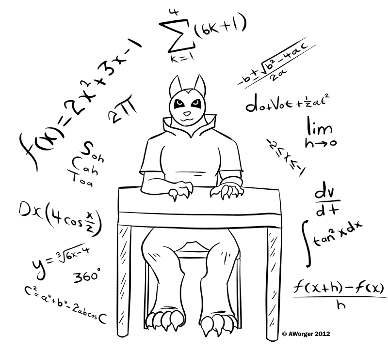 Calculus Wolf by AWorger