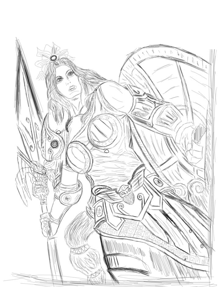Smite - Athena - Goddess Of Wisdom by Aeeso