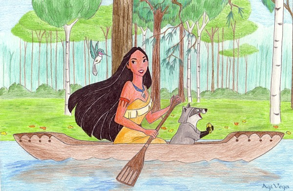 Pocahontas rowing by AgiVega