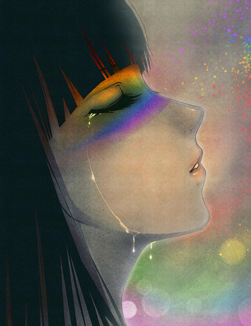 rainbow tears by AikaXx