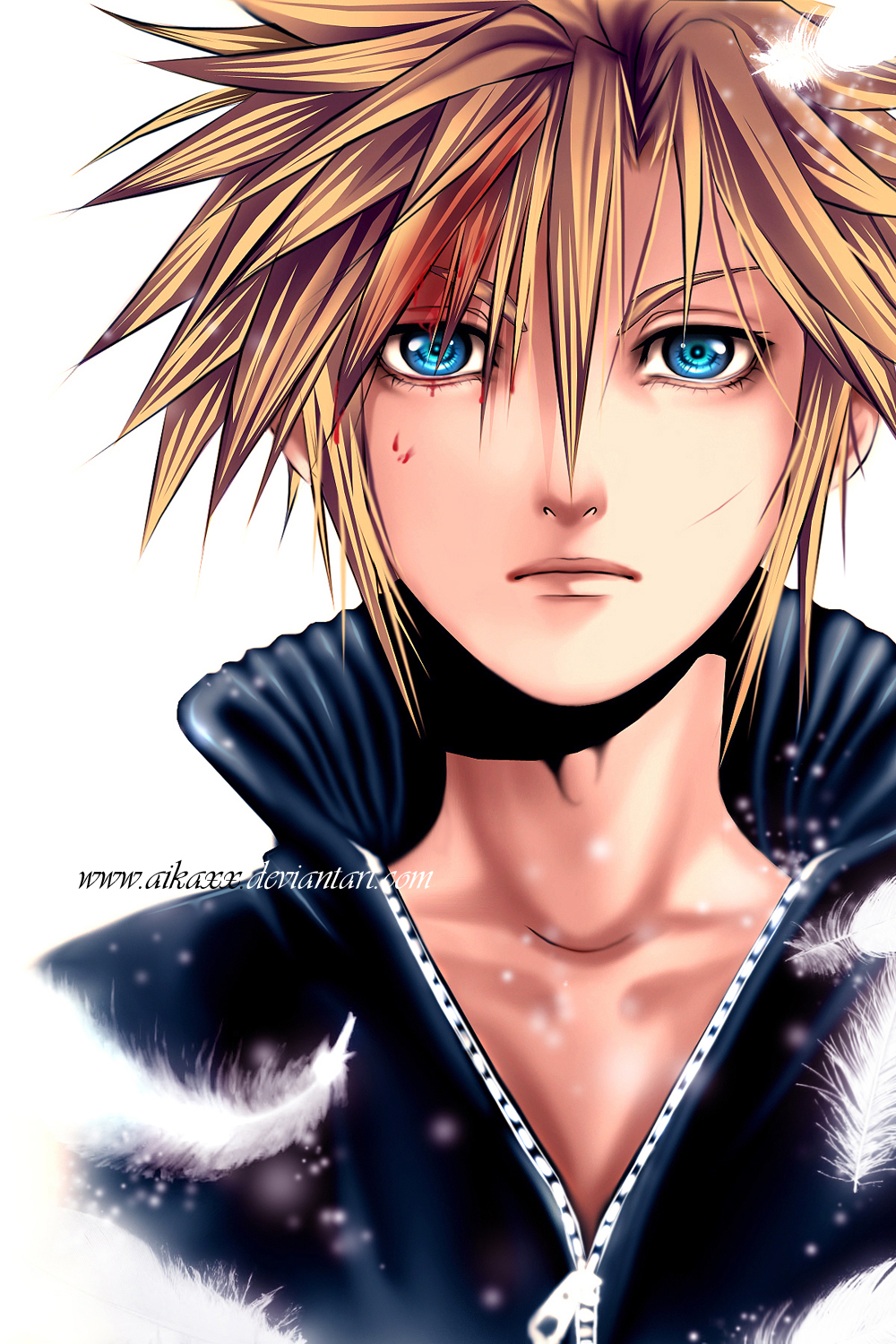 Cloud Strife Portrait by AikaXx
