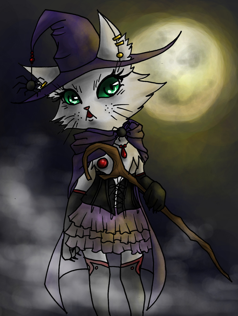 Witch Cat by Alexis_Hoheimer