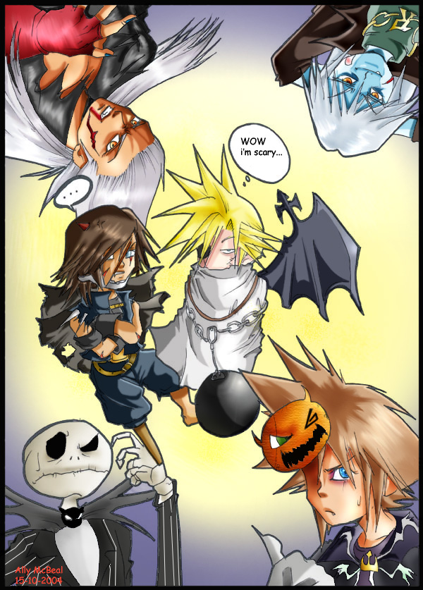 halloween in kingdom hearts by AllyMcBeal