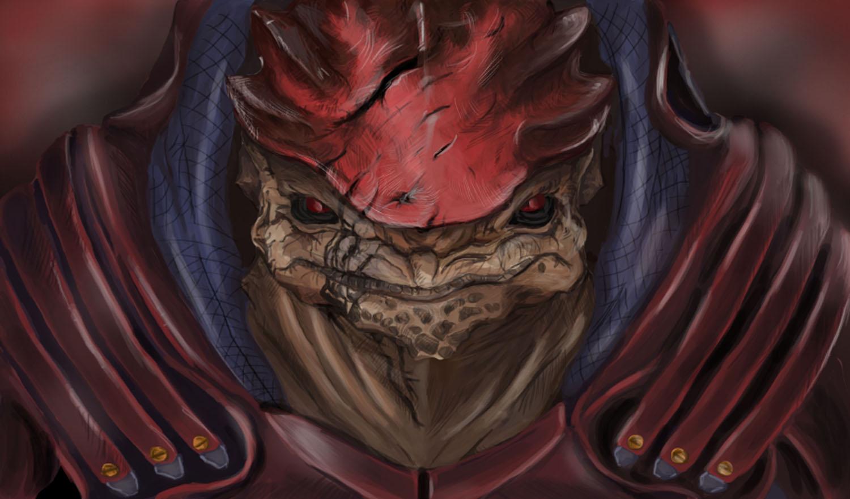 Mass Effect Wrex by AmandaB