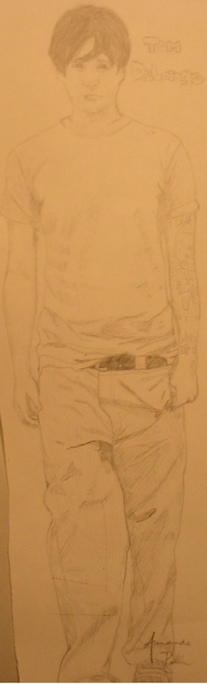 Tom DeLonge pencil drawing by AmandaDeLonge