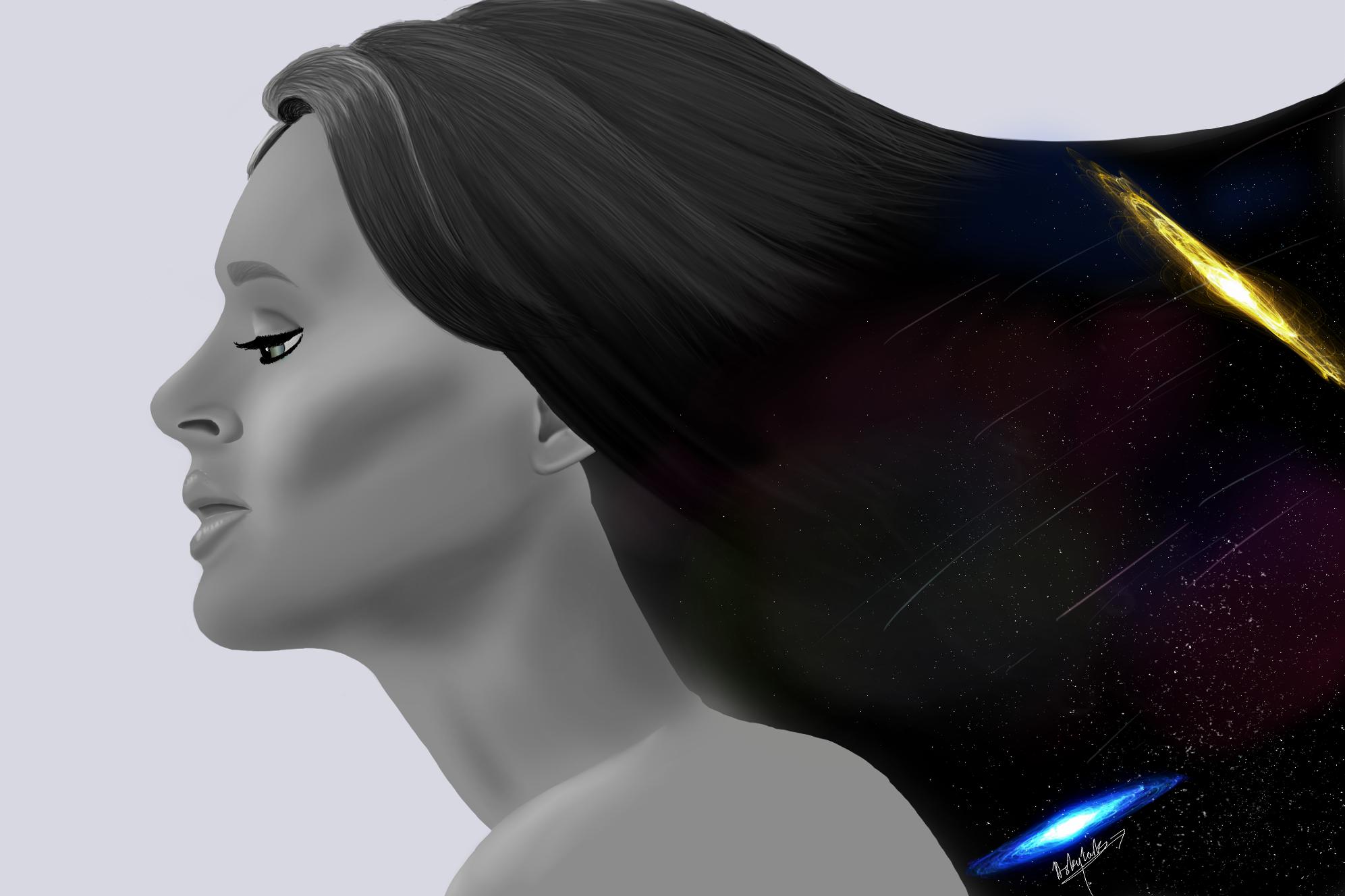 Galaxy woman by Amaya-Skylark