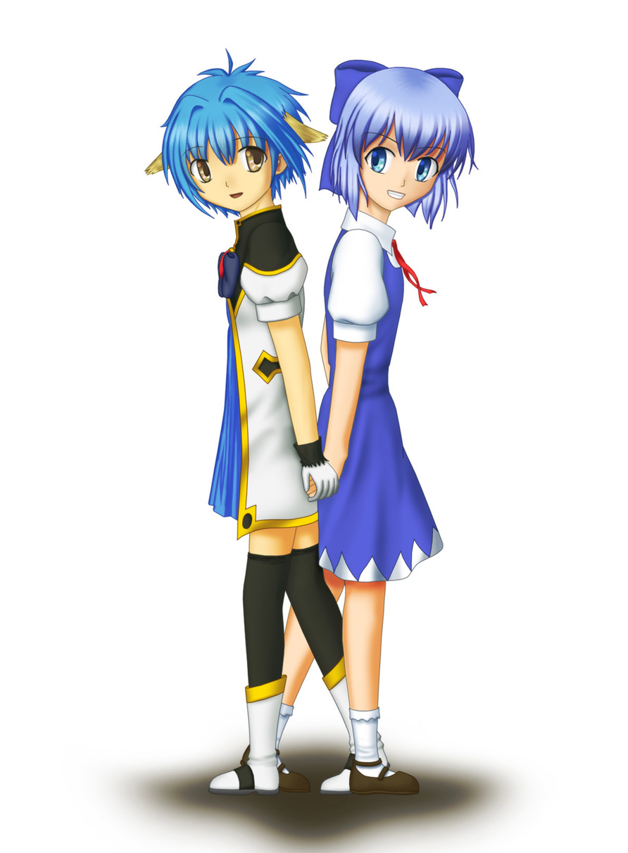 Blue Moe - Cirno & Mint by Andell