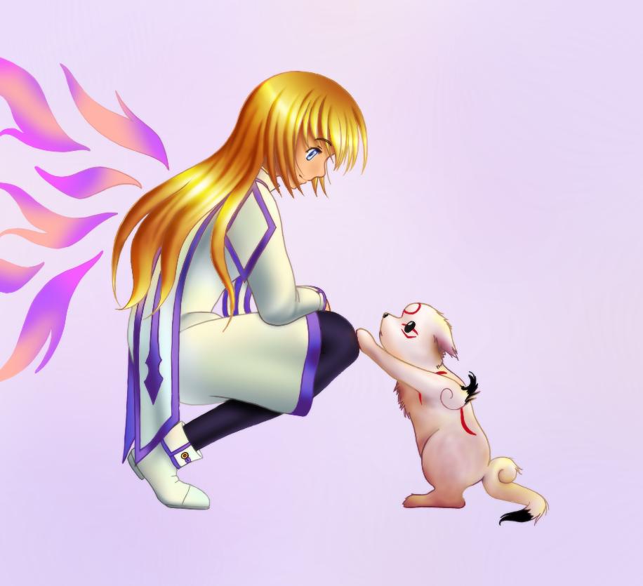 Colette & Chibiterasu by Andell