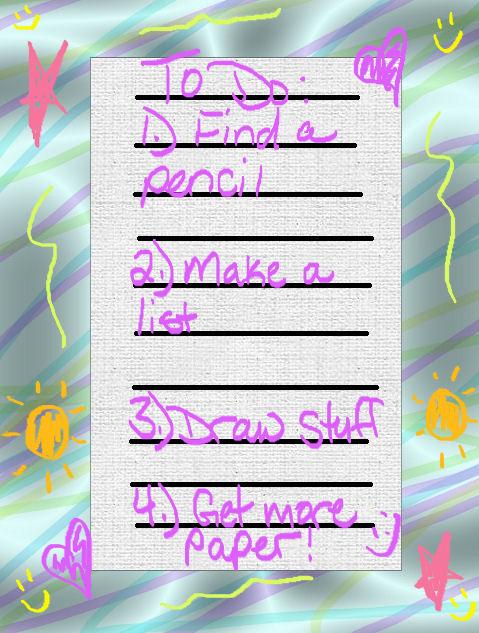 To Do List Contest Entry by AngelicKitten
