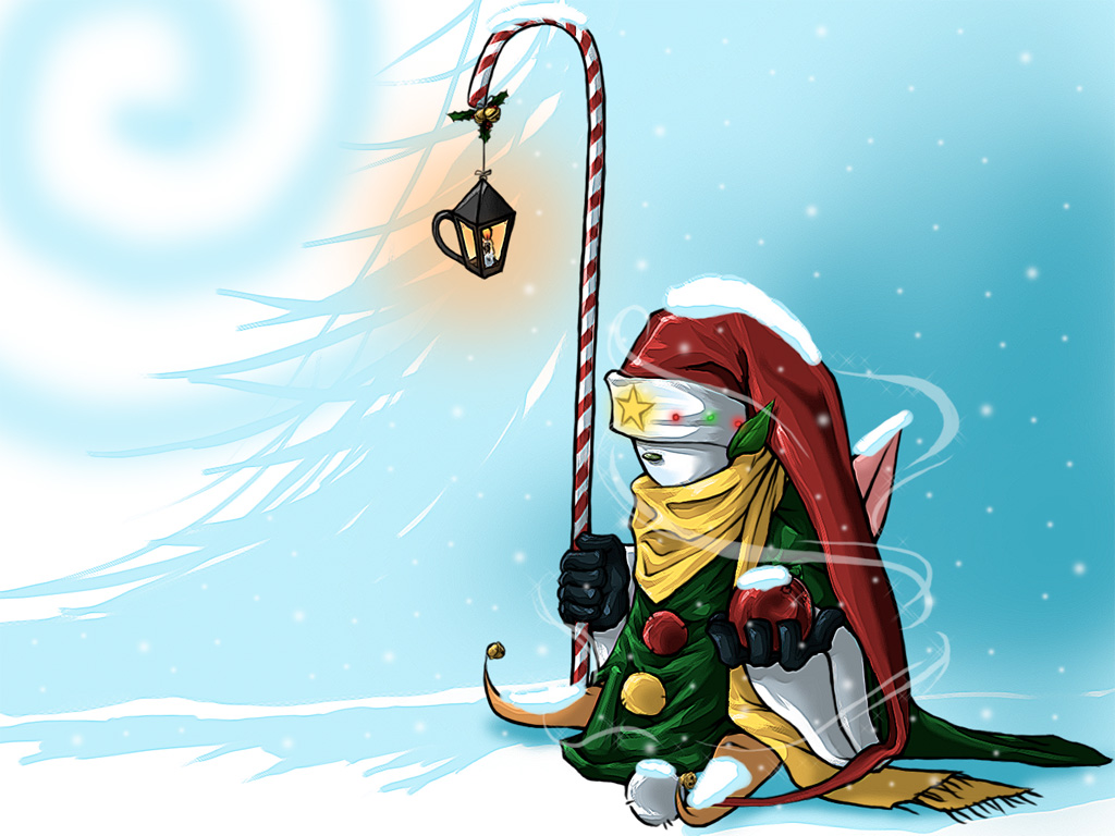 Candy Cane Snowman by AngelusMortis