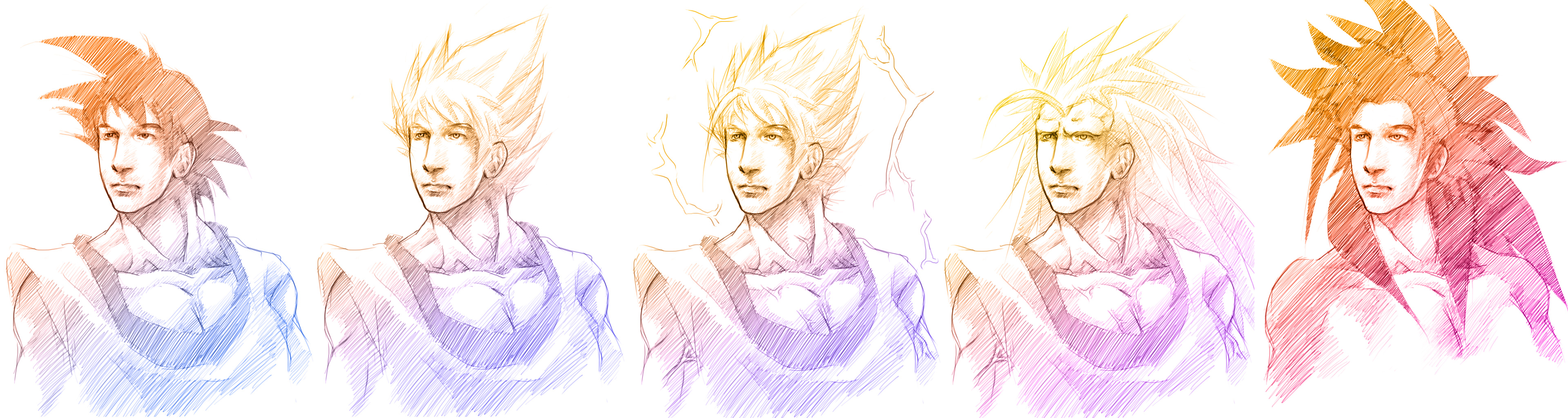 The Many Forms of Goku by AngelusMortis