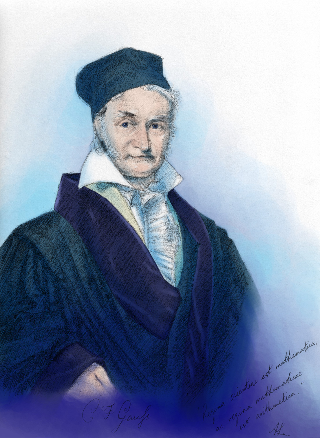 Carl Friedrich Gauss, Princeps Mathematicorum by AngelusMortis