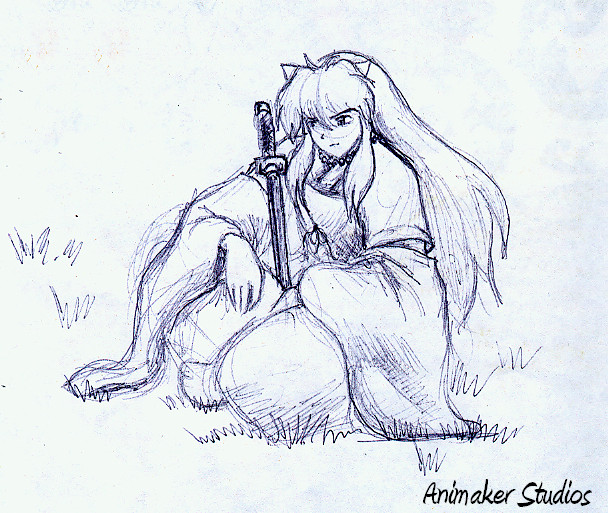 InuYasha in pen by Animaker131