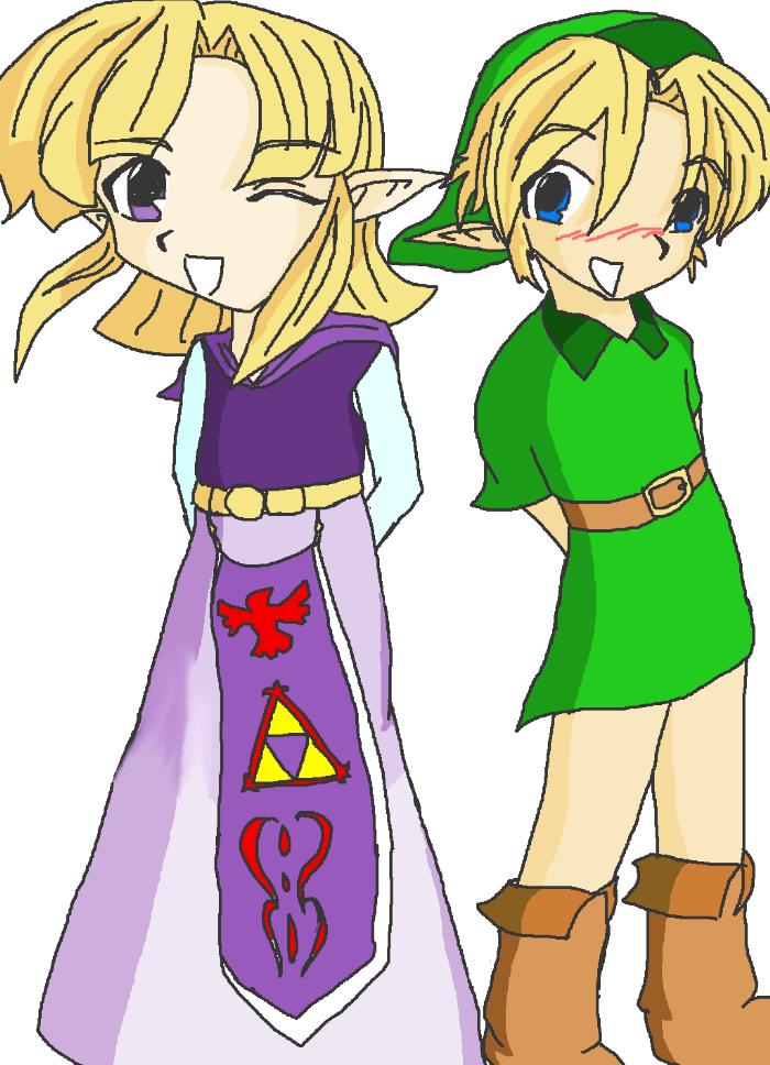 link and zelda by Anime_Yokai_Mckai