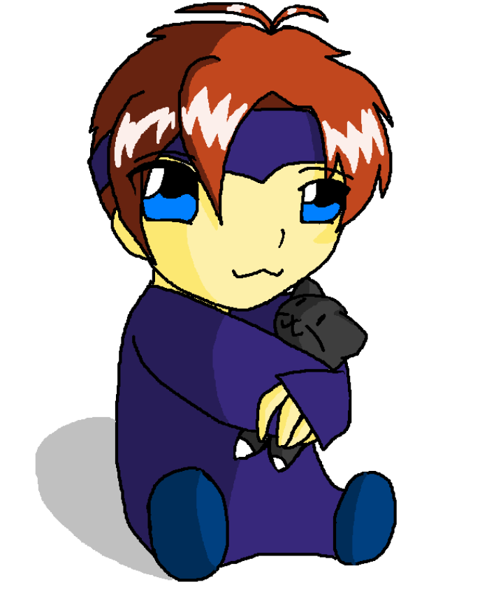 Baby Roy Loves his kitty by Anime_Yokai_Mckai
