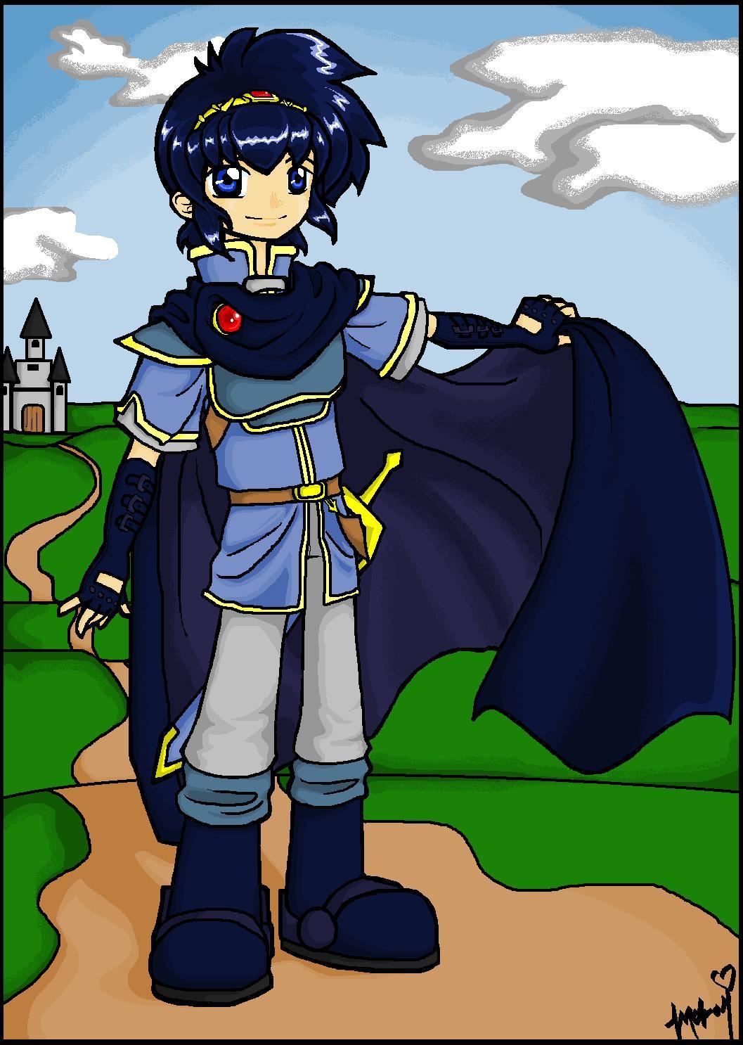 Prince Marth (MSpaint) by Anime_Yokai_Mckai