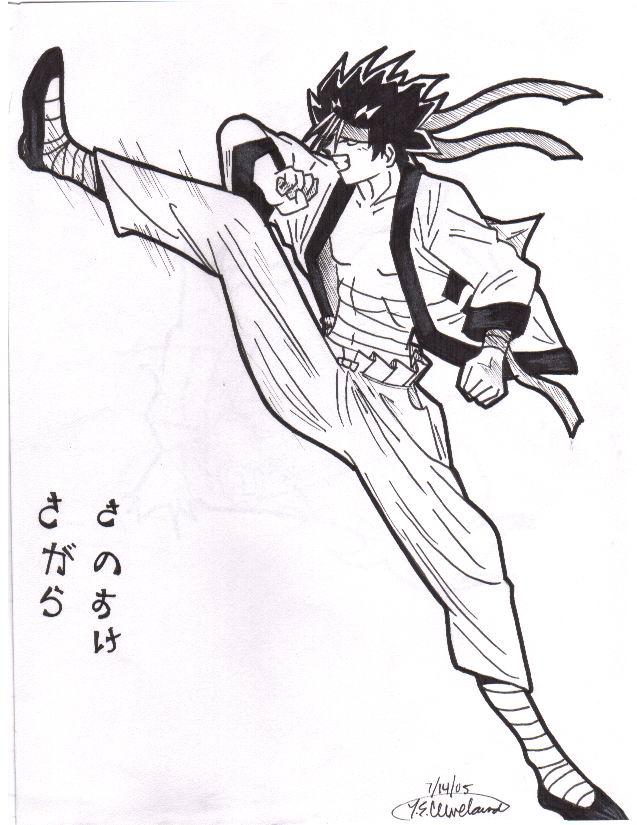 Sano kick! by Animegirl2429