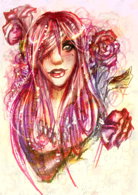 Colorful Rose by Aniu