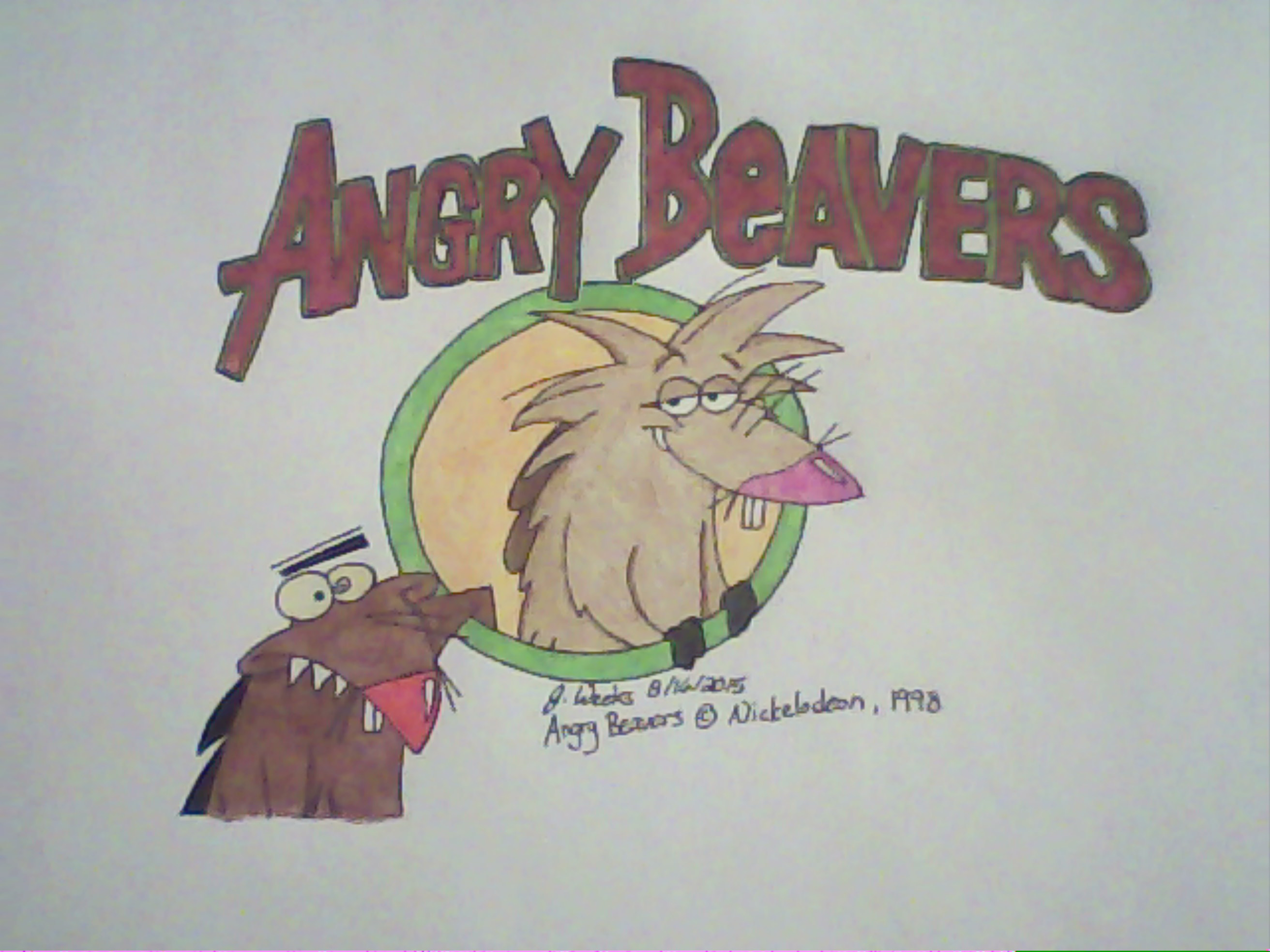 Angry Beavers- Dag and Norb w/ Title by AnthroLion216
