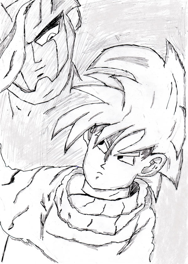 Gohan & Cell by Antisocial