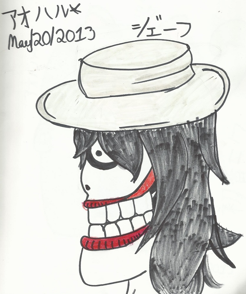 Jeff the Killer in a Fedora by Aoharu
