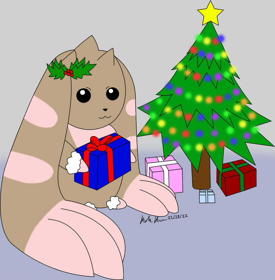 Christmas Lopmon by Arctic_Wolf_Angel