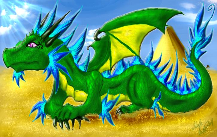 Emerald Desert Dragon by Arohk