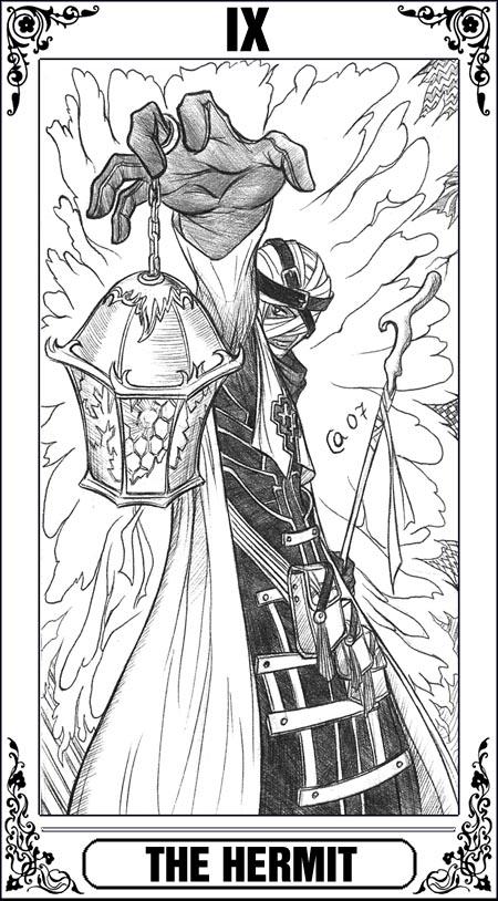KH-Tarot: The Hermit by Autumn-Sacura