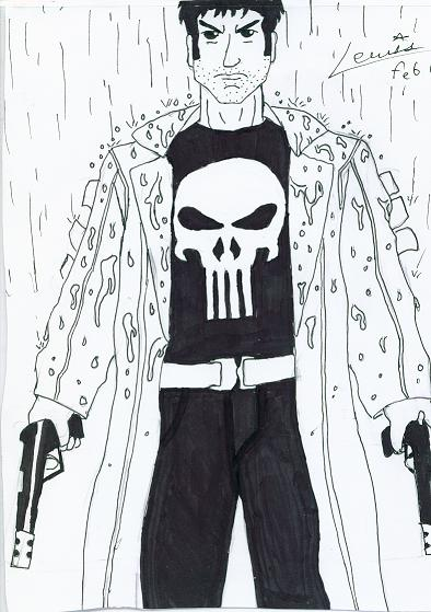 punisher in the rain by Auzzy-and-NATE